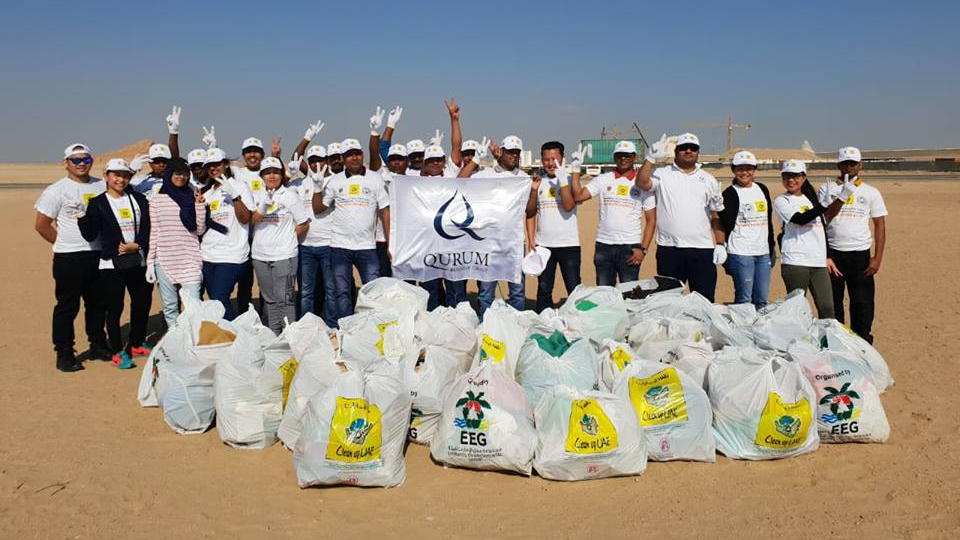 Beach Cleaning participation at Duqum Site.