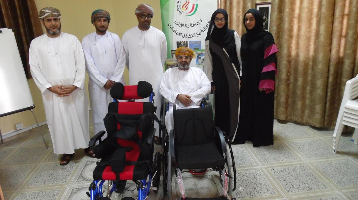 QBG Contributes Wheelchairs To The Oman Society For The Disabled