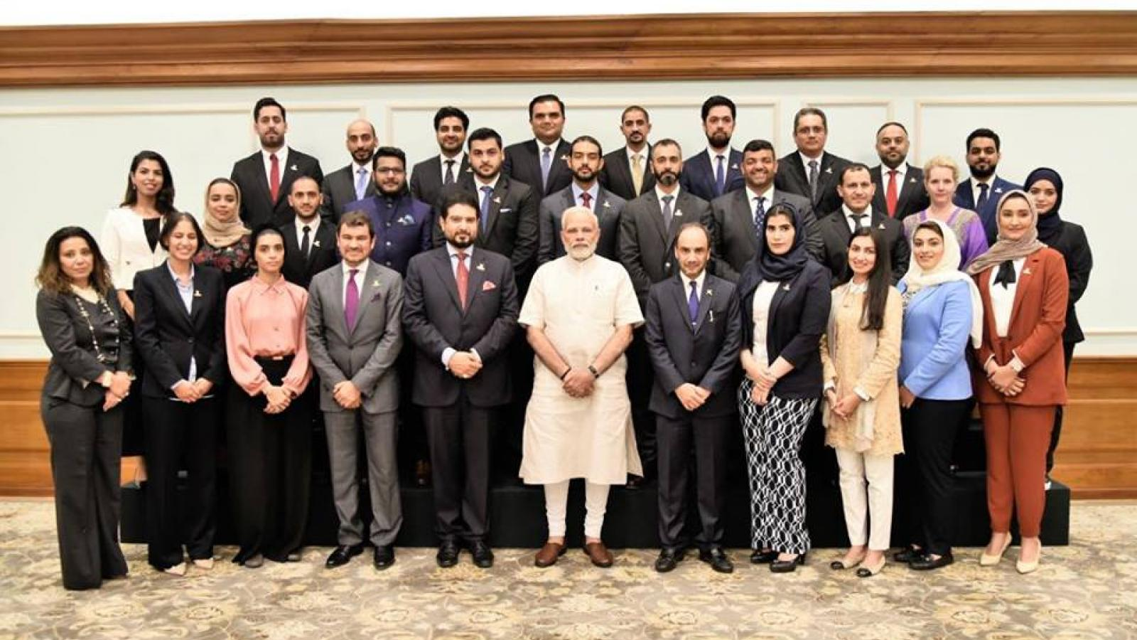 Omani Next Generation business leaders that meet with the Indian Prime Minister Narendra Modi.