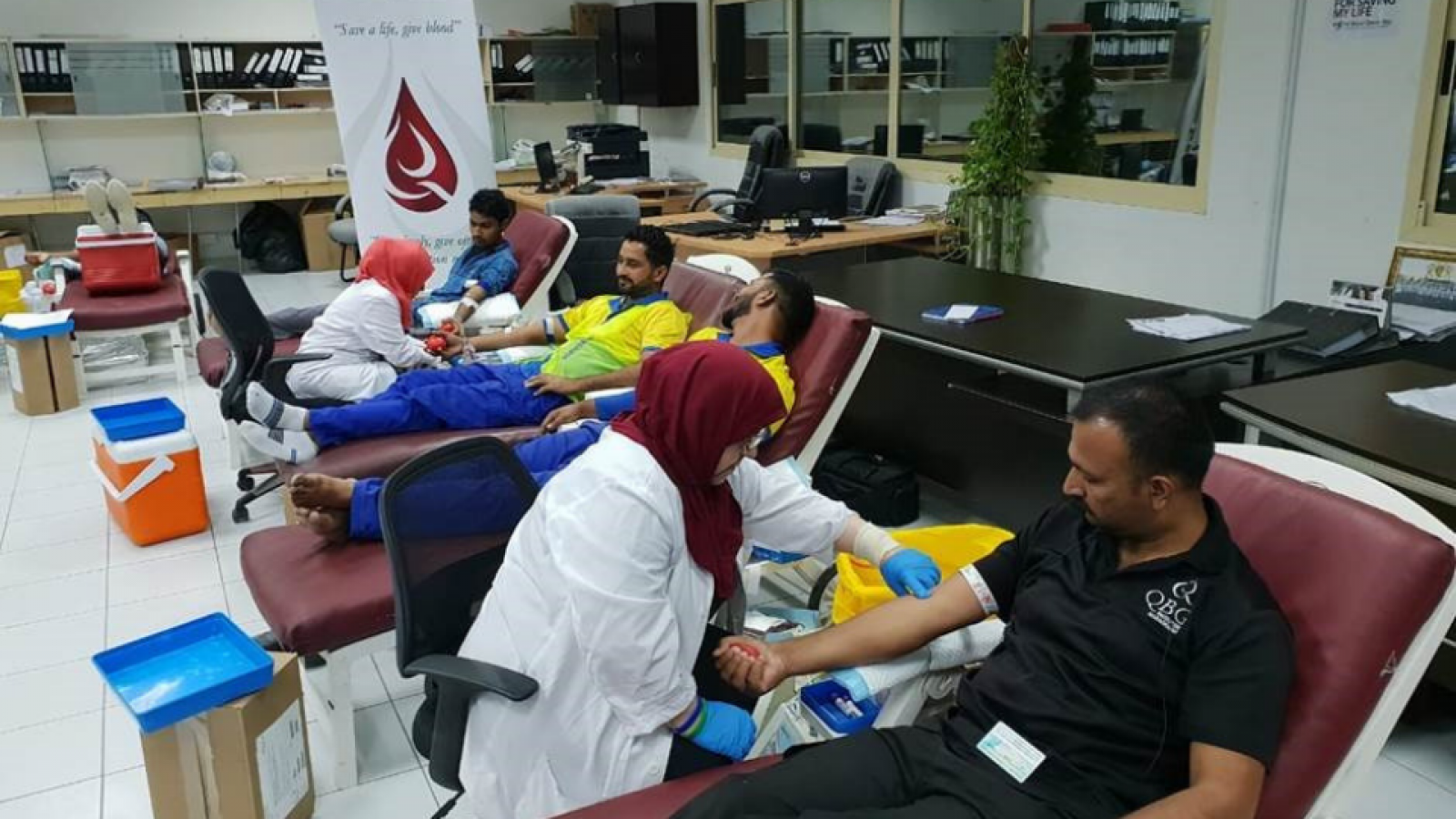 QBG UAE Holds Blood Donation Campaign at Qurum Village 1, Jebel Ali