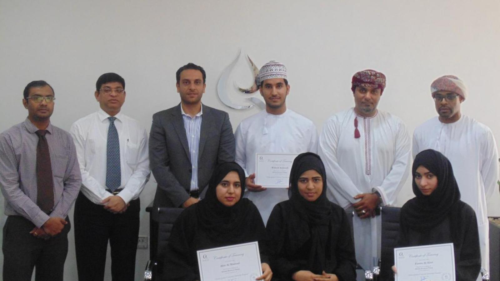 SQU Economics Students Complete Qurum Business Group Internship Program
