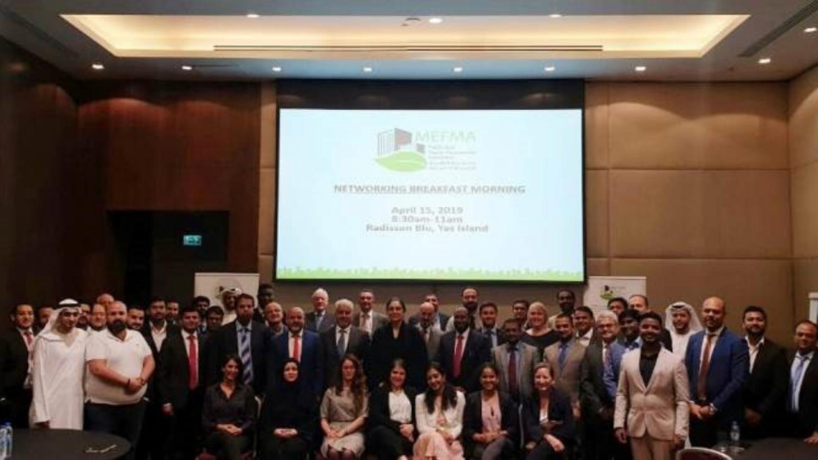 "QBG FM at the MEFMA Networking Event on ""Regional Regulation & Legislation in Facilities Management""."